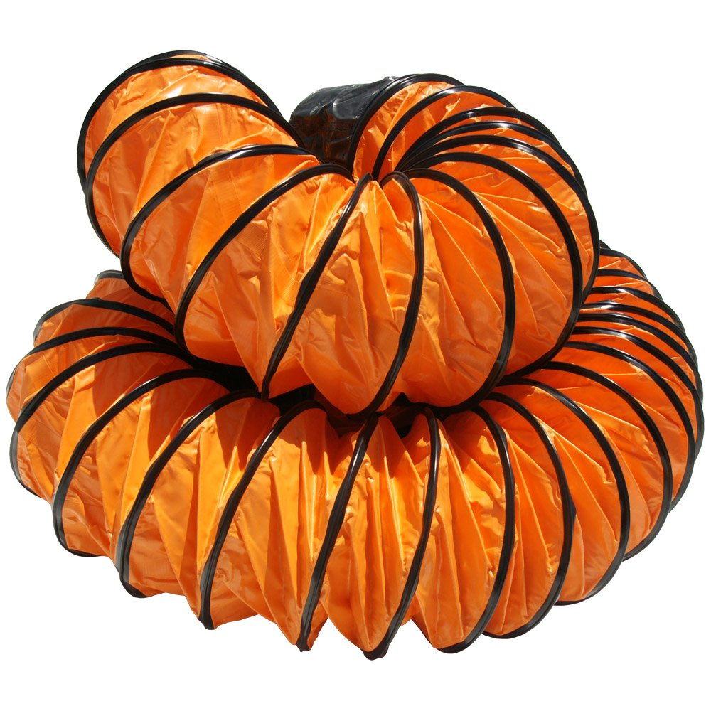 10ID x 25 Length Hose Fully Stretched Rubber-Cal 01-191-10Air Ventilator Orange Ventilation Duct Hose