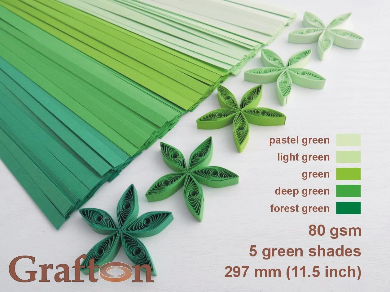 80 GSM DIY PaperCraft 1//8 inch Long 3mm Wide 5 Brown Shades x 100 Strips per Pack BN PS 3 USA 11.5 inch 297 mm Solid Colors 500 Paper Quilling Strips