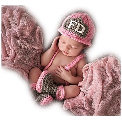 Hecho a mano bebé recién nacido bebé niña niño gorro de ganchillo ...