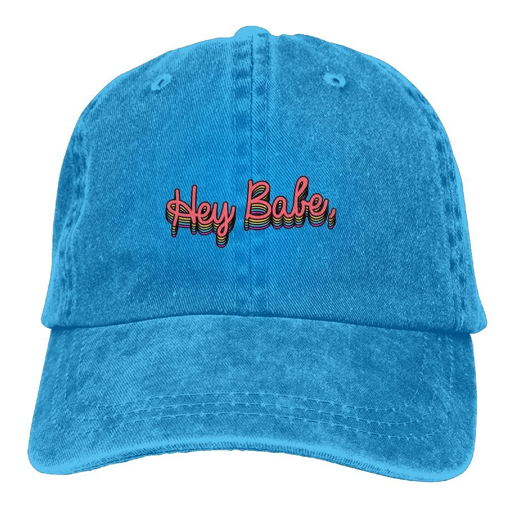 Unique Mens Hey Babe Sports Adjustable Structured Baseball Cowboy Hat