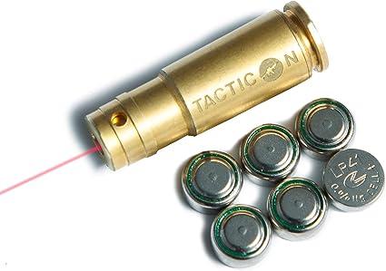 CAL 9MM Laser Bore Sighter Red Dot Sight Brass Cartridge Bore Sighter Caliber