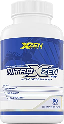 XZEN Nitroxzen Pump Nitric Oxide Supplement – Supports Muscle Growth, Endurance and Recovery, 2100 mg L-Arginine Formula – 90 Tablets
