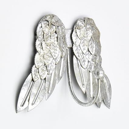 Amazon.com: abodent.com Silver Pretty Angel Wings Cherubs ...