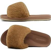 ONCAI Zapatillas de Estar por Casa de Mujer Zapatillas de Felpa Mujer Punta Abierta Peludo Acogedor Pantuflas de…