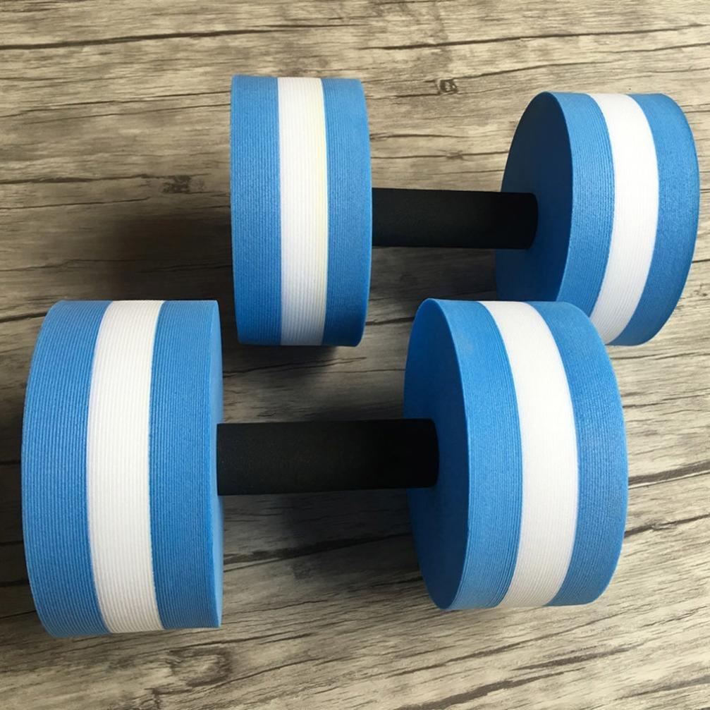 Aqua mancuernas, pesas Power 1 par de espuma para agua de pesas fitness, Obstrucción nadar übung, azul: Amazon.es: Deportes y aire libre