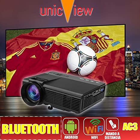 proyector Unicview SG150 con Android, WiFi, USB, HDMI, VGA, AC3 ...