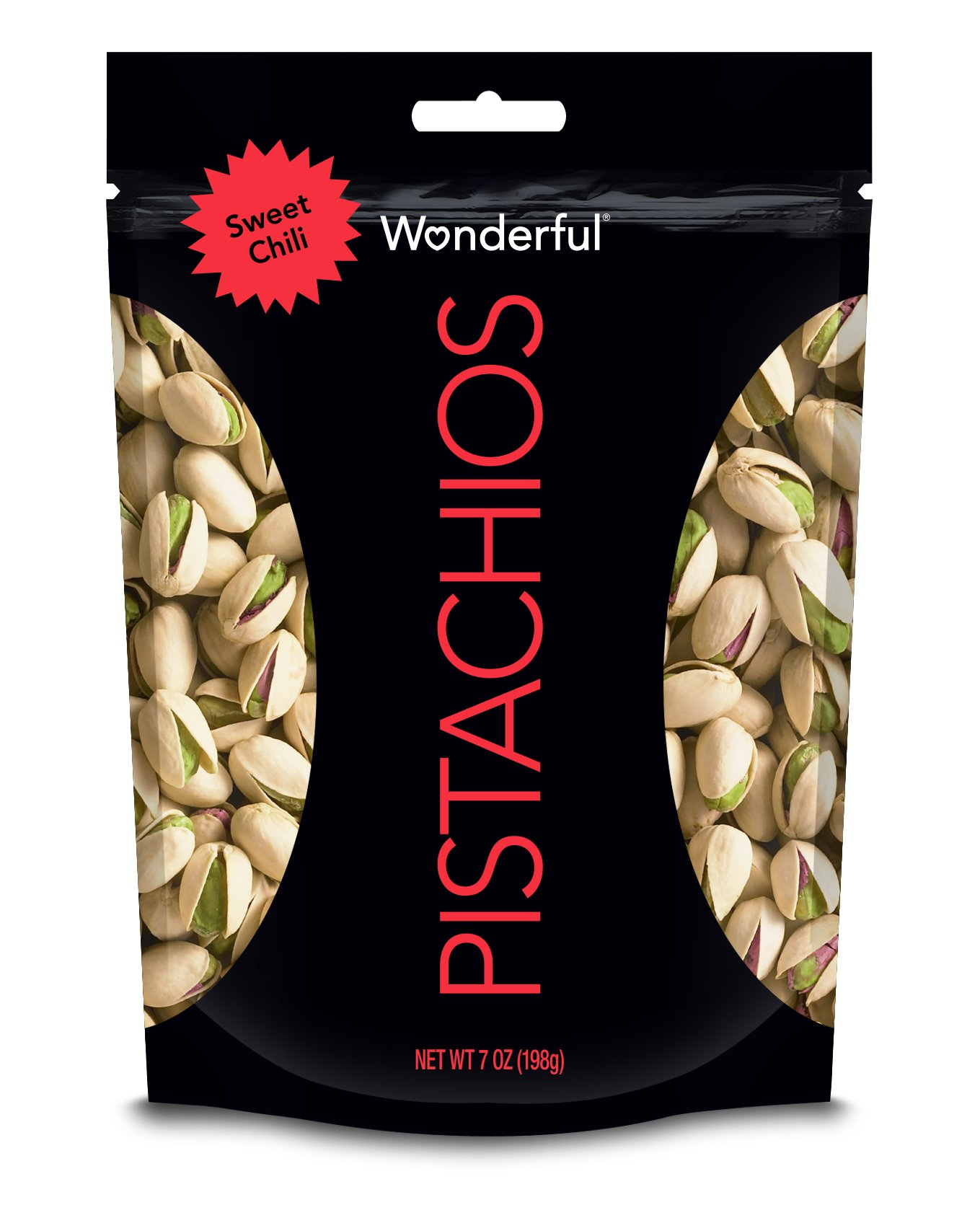 Wonderful Pistachios, Sweet Chili Flavored, 7 Ounce Resealable Pouch by Wonderful Pistachios & Almonds