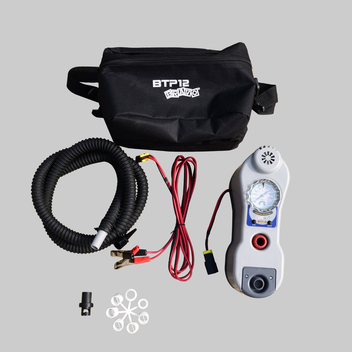 BRAVO 12V BTP12M Electric Air Pumps For Inflatable Boats SUP Boards Tents Kites by Bravo!