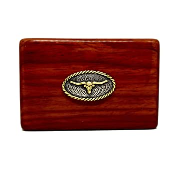 Amazon longhorn business card holder rosewood business card longhorn business card holder rosewood business card box reheart Gallery