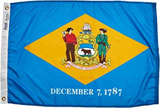 product image for Annin Flagmakers Model 140850 Delaware Flag Nylon SolarGuard NYL-Glo, 2x3 ft, 100% Made in USA to Official State Design Specifications