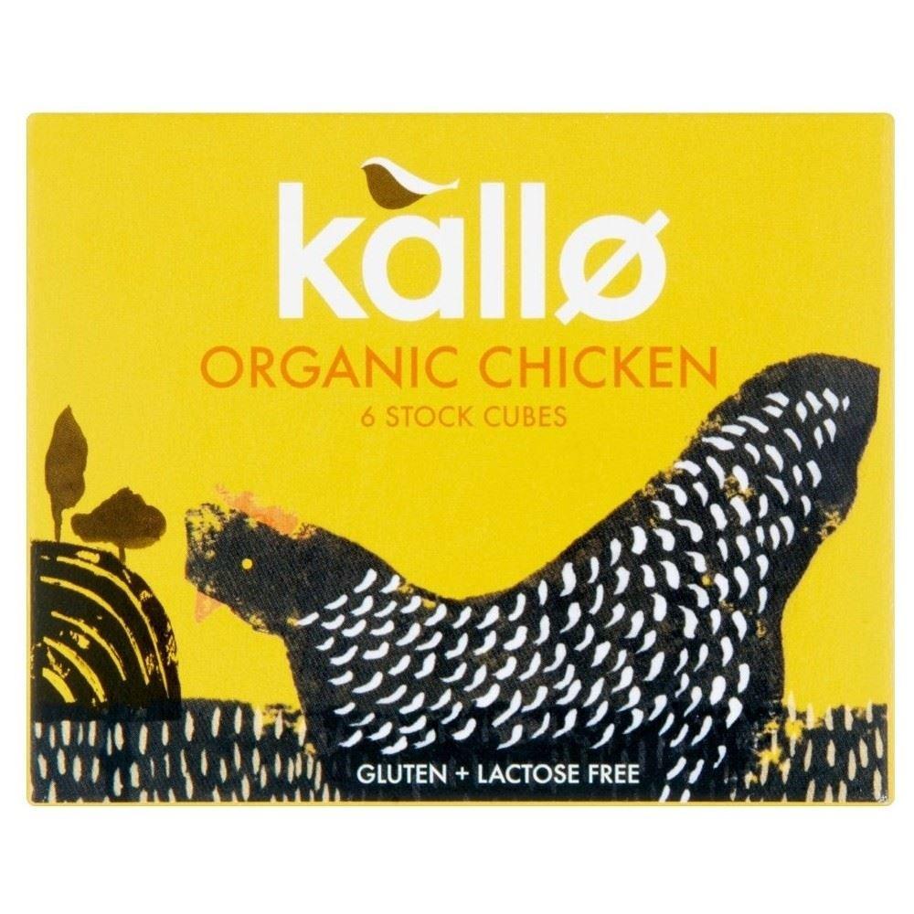 Kallo Organic Free Range Chicken Stock Cubes (6x11g) - Pack of 6