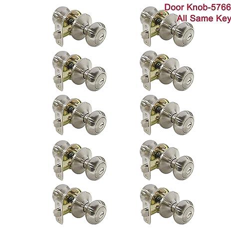 10 Pack Probrico Interior Bedroom Entrance Door Knobs Handle One ...