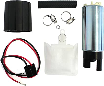255LPH High Performance Electric Fuel Pump /& Install Kit Tank Seals Strainers