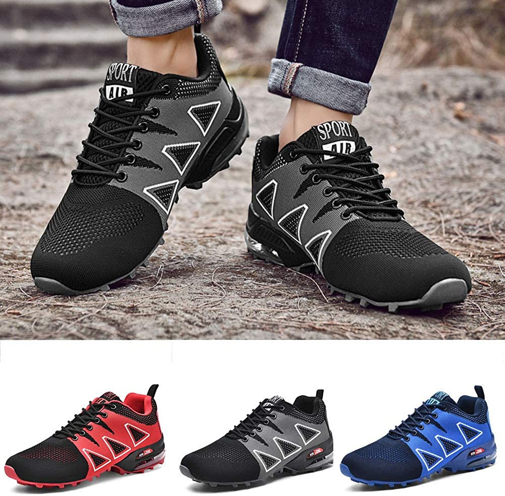 Climbing Shoes Men KKGG Fashion Outdoor Lightweight Breathable Casual Sport Shoes Solid Lace Up Non-Slip Woven Mesh Wide Flat Shoe Comfortable Running Climbing Jogging Footwear Walking Athletic Hiking