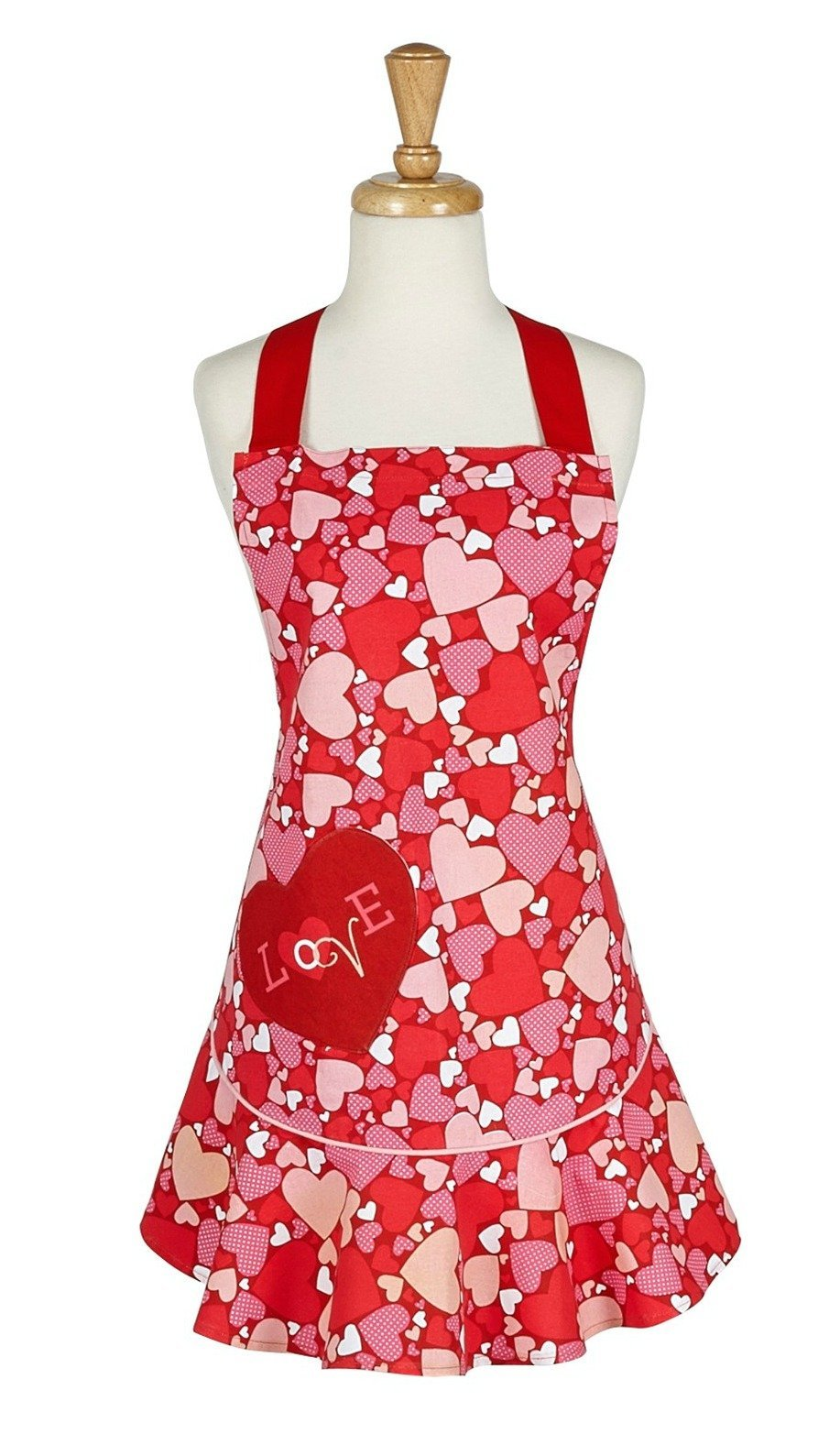 Design Imports Filled with Love Ruffle Apron