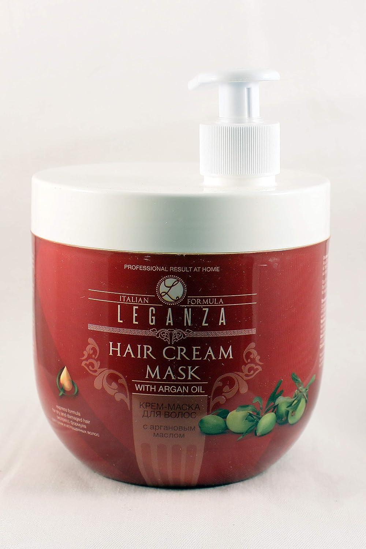 Leganza Masque Crème Formules Express à l'huile d'Argan et Cheveux Secs Endommagés par le Distributeur Rosa Impex