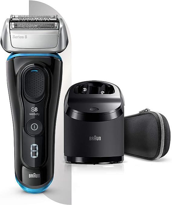 Braun Series 8 8385 cc - Afeitadora Eléctrica Hombre Nueva Generación, para Barba Recargable, Inalámbrica, Estación Limpieza y Carga Clean&Charge, Negro: Amazon.es: Salud y cuidado personal
