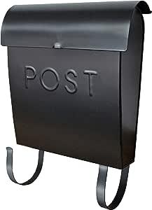 NACH MB-44765 Euro Wall mounted mailbox, Black
