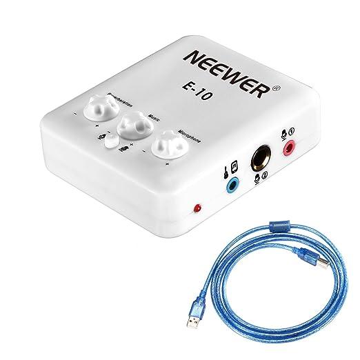 Amazon.com: Neewer – Tarjeta de sonido externa (USB, Blanco ...