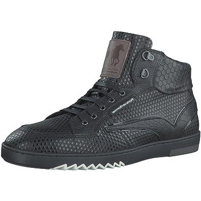 0a00c5d2e6 Floris van Bommel Herren Sneaker NV 10932/01 schwarz 265514: Amazon ...