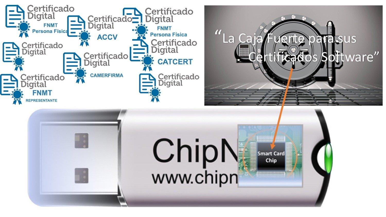 ChipNet ePass Token ✦Administración Electrónica -> sin Lector,ni Tarjeta, ni DNI .✦ Llave Criptográfica : Mac/Windows/.