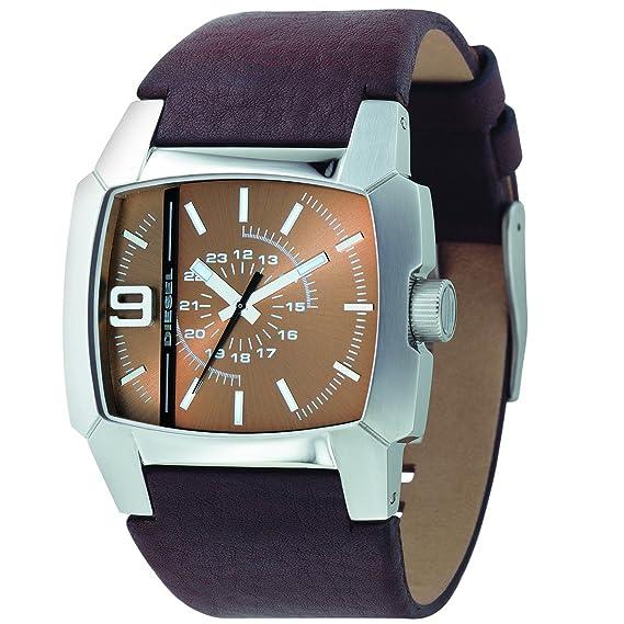 Diesel DZ1132 - Reloj de caballero de cuarzo, correa de piel color marrón: Amazon.es: Relojes