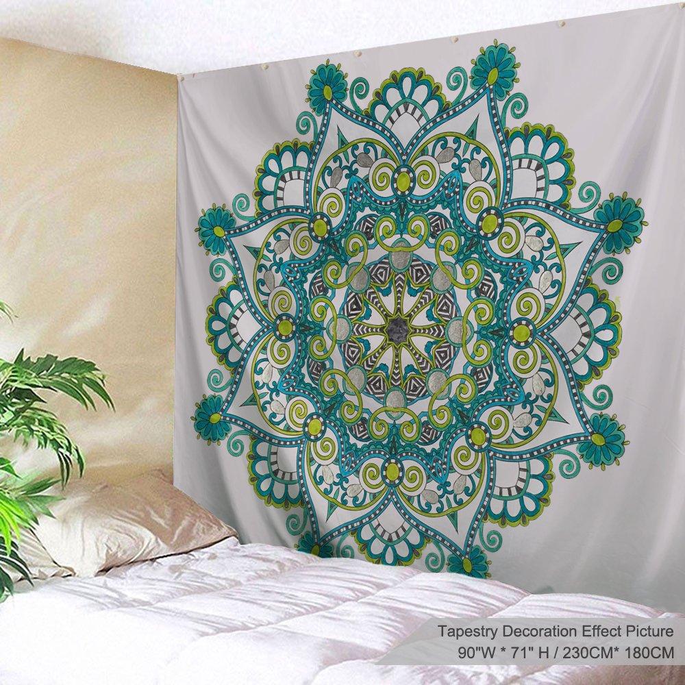 Xinyiホーム壁吊りNatureアートポリエステル生地Mandalaテーマタペストリー、壁の装飾の寮の部屋、寝室、リビングルーム、ネイル含ま 90