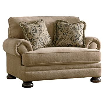 Marvelous Ashley Furniture Signature Design   Keereel Chair And A Half   Plush  Upholstery   Traditional