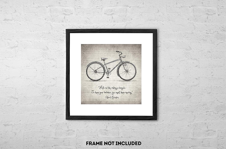 Albert Einstein Riding Bicycle Bike Fun Famous Photo Vintage-Style 24x36 Poster