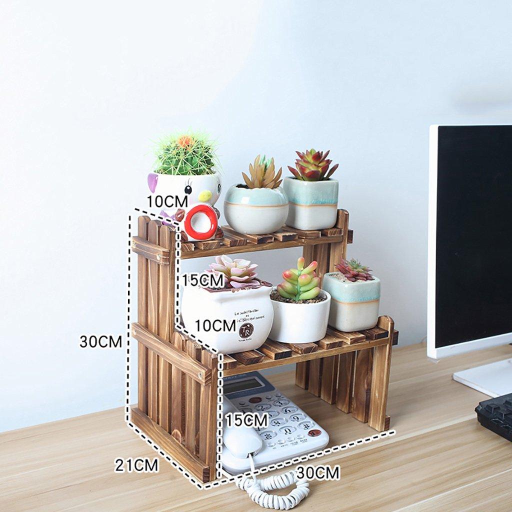 JXXQD Mensola per Fiori in Legno, Multi-Strato da Interno Bianco scrivania Balcone Soggiorno portavasi (Dimensioni   30×21×30cm)