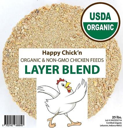 Amazon Layer Chicken Feed Organic Non Gmo 50 Lbs Happy
