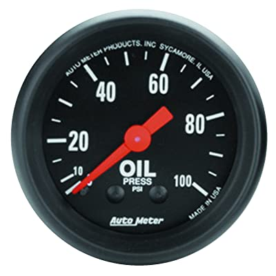 AUTO METER 2604 Z-Series Mechanical Oil Pressure Gauge: Automotive