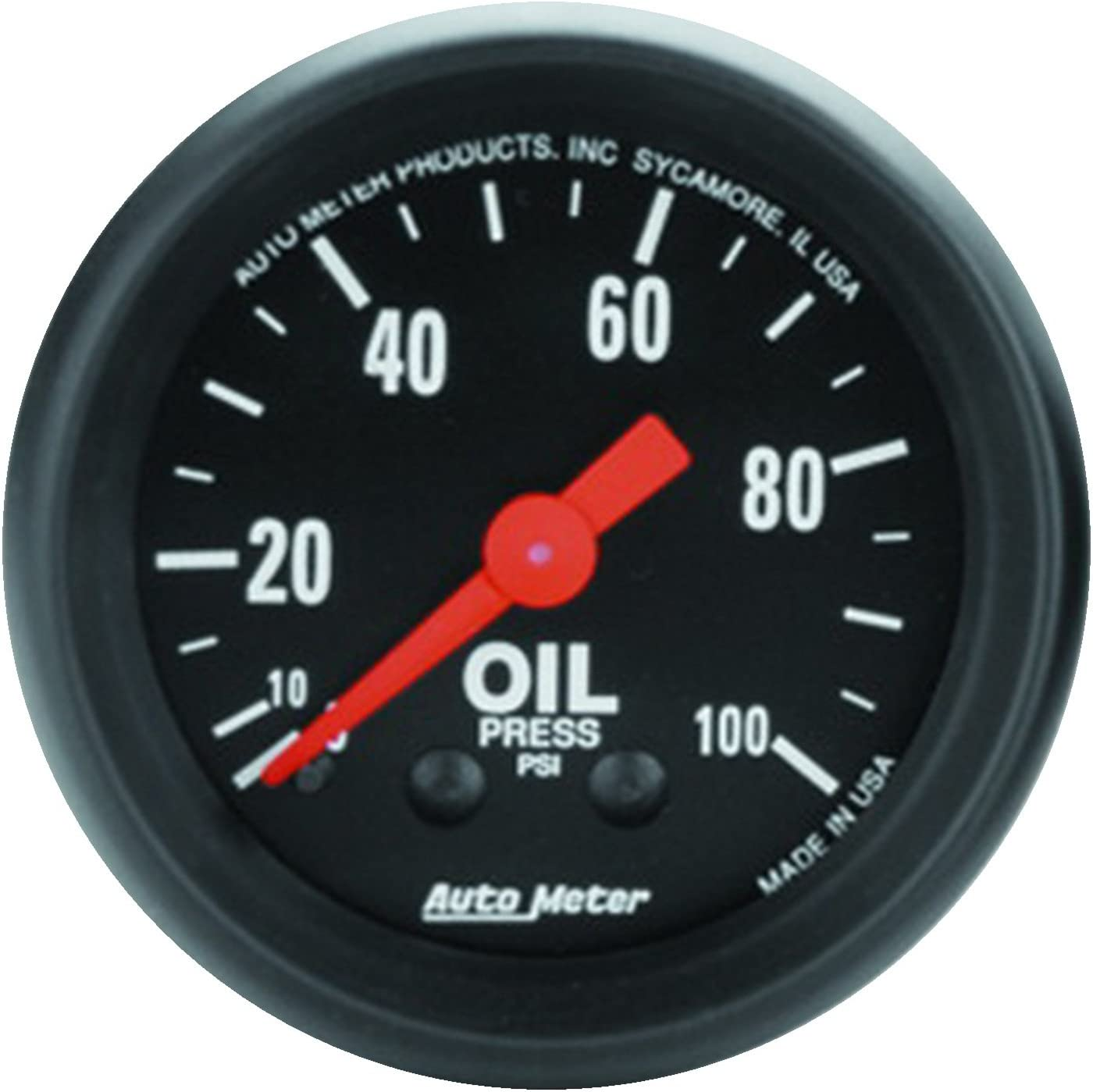 Auto Meter 1429 Designer Black Mechanical Oil Pressure Gauge
