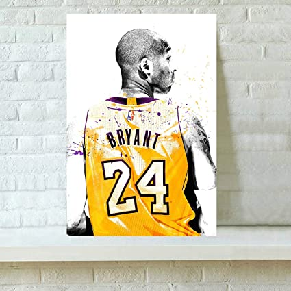 HD Printed Kobe Bryant Oil Painting Home Wall Decor Art On Canvas 16x24inch