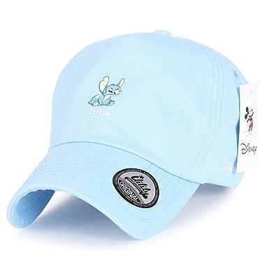 Disney Lilo   Stitch Cute Logo Cotton Adjustable Curved Hat Baseball Cap  (ballcap-1415 c85d9951ec3