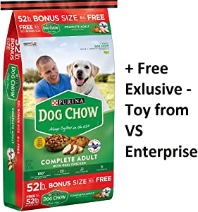 Purina Dog Chow Complete Adult Dog Food (2-52 lb. Bag + Toy)