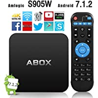 Android TV Box, 2018 Version GooBang Doo ABOX Pro Android 7.1.2 TV Box Amlogic S905W 64 Bits Quad Core and Supporting 4K (60Hz) Full HD/H.265/WiFi 2.4GHz