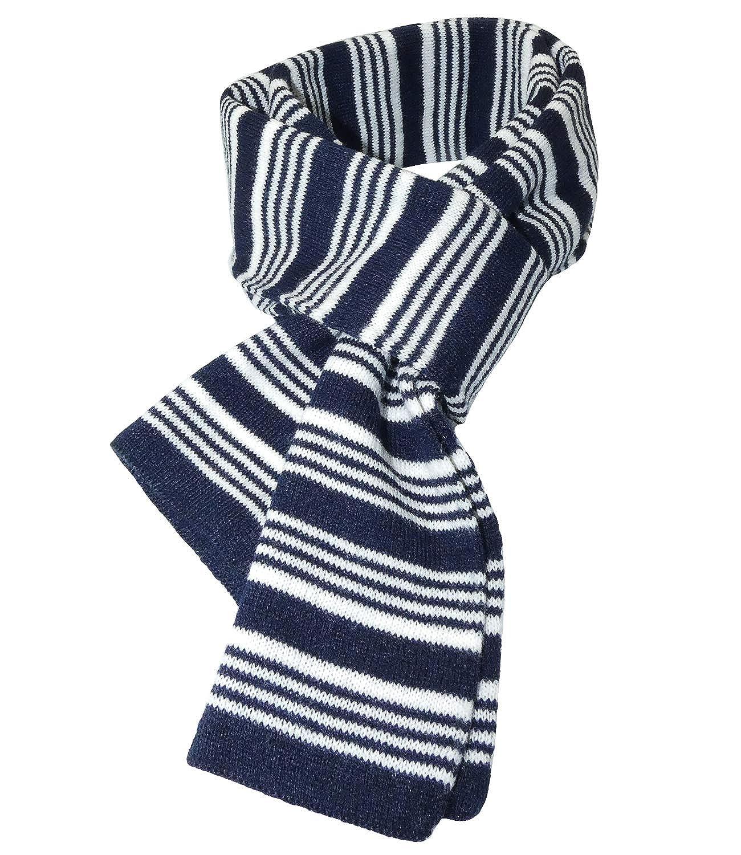 inkl Hutfibel EH-1496-1-W18-JU0 EveryHead Jungenschal Strickschal Wollschal Fashionschal Modeschal Markenschal Basic Schal Herbst Winter gestreift f/ür Kinder