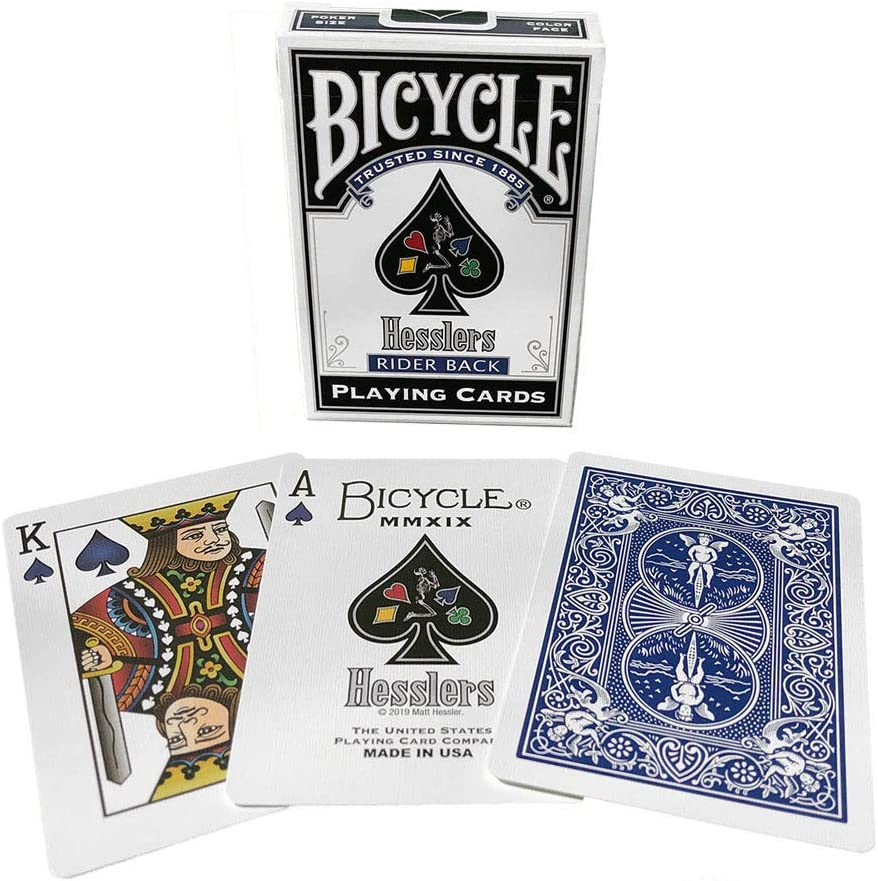 Hoyle 2-Deck Red Riderback Playing Cards W// Coupons /& Mini Red Riderback Deck