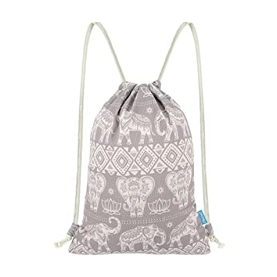 dd644620e Miomao Gym Sackpack Elephant Drawstring Backpack Bags Canvas Cinch Pack  Sport String Backpack hot sale 2017