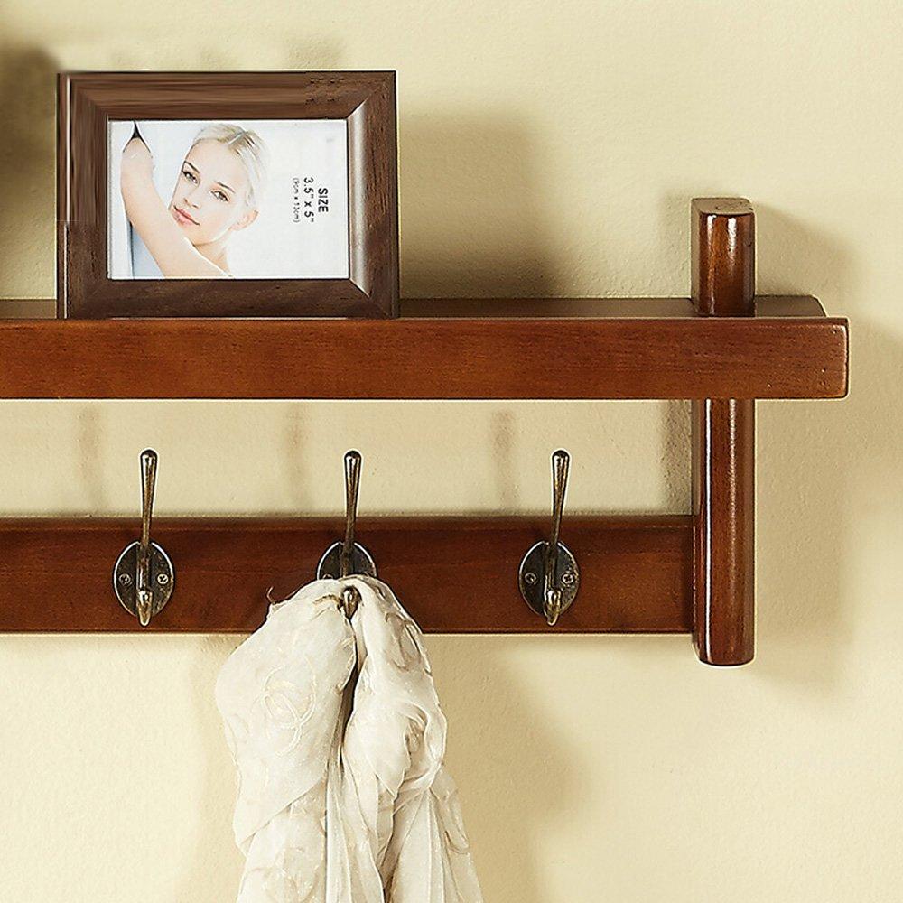 Amazon.com: Wall Shelf Solid Timber Wall Wall Hats Holder Wall ...