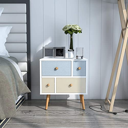 Lifewit-Nightstand-with-4-Fabric-Drawers