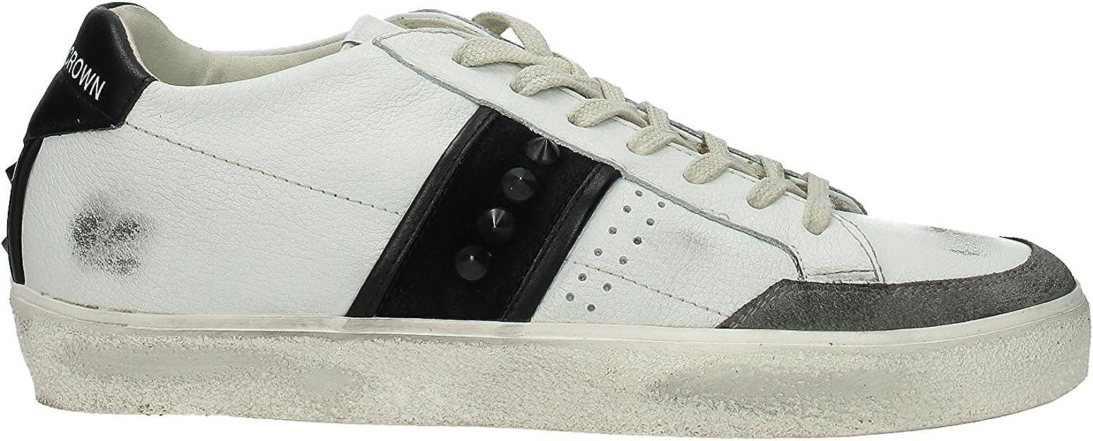 Leather Crown Sneakers Homme Cuir Mcl1782biancogreynero 40 Eu Amazon Fr Chaussures Et Sacs