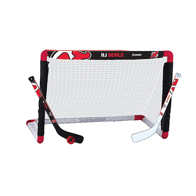 Franklin Sports NHL Team Licensed Knee Hockey Set Includes 2 Mini Hockey Sticks and One Foam Mini Hockey Ball