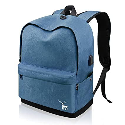 f6cdf7af78 Casual Unisex Canvas High School Backpack for Men Women Boys Girls with USB  Port
