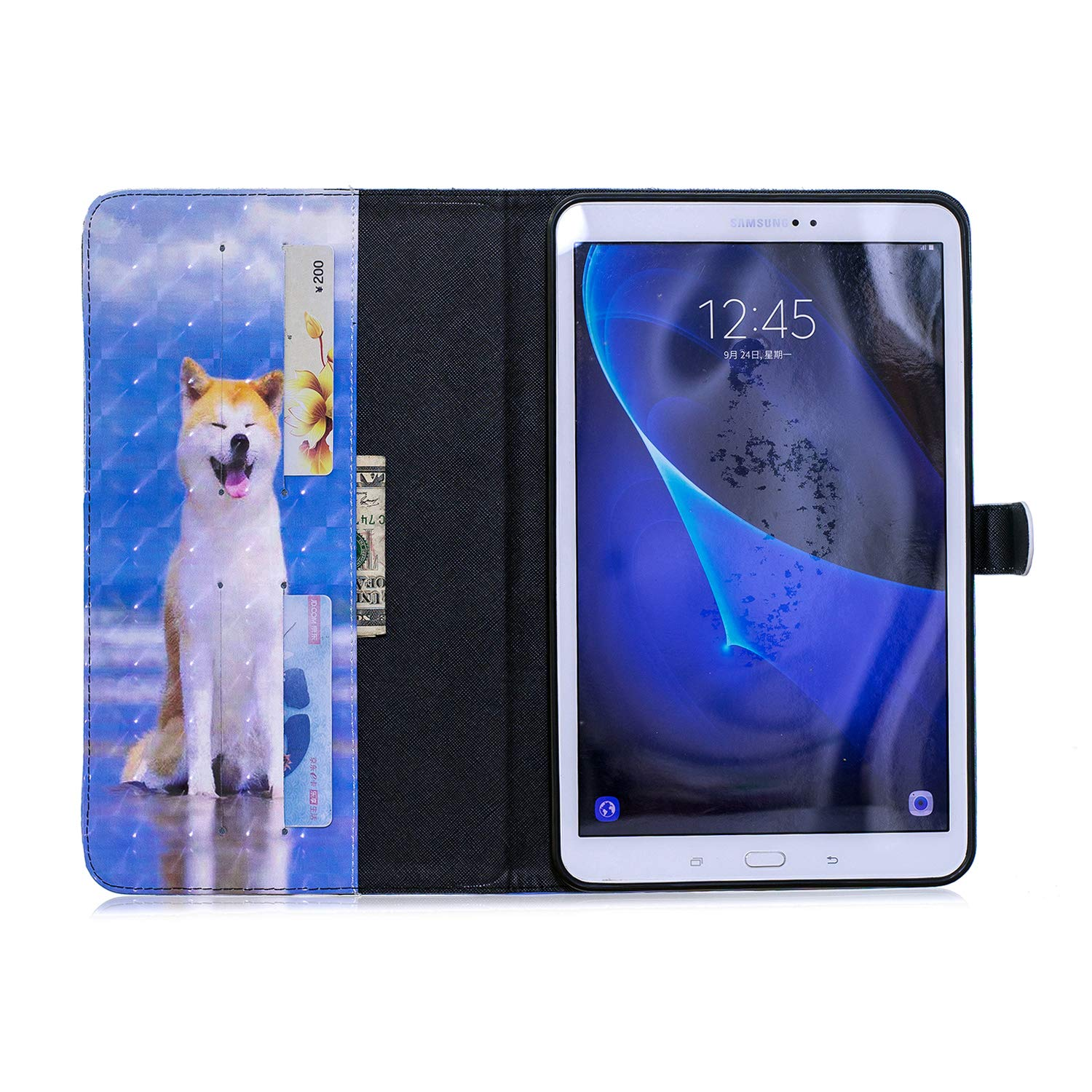 Ultra Slim Lightweight Smart-Shell Magnetic Flip Stand Folio Cover for Samsung Galaxy Tab A 10.1 Tablet SM-T580//T585-Smiley Cat JAWSEU Samsung Galaxy Tab A 10.1 Folio PU Leather Flip Case Cover