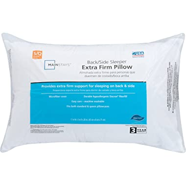 Mainstays 100% Polyester Extra Firm Support Pillow in Multiple Sizes Jumbo