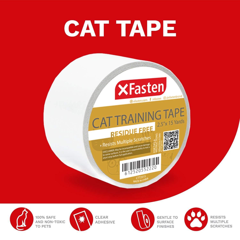 Xfasten Anti Scratch Cat Training Tape Clear 2 5 Inches