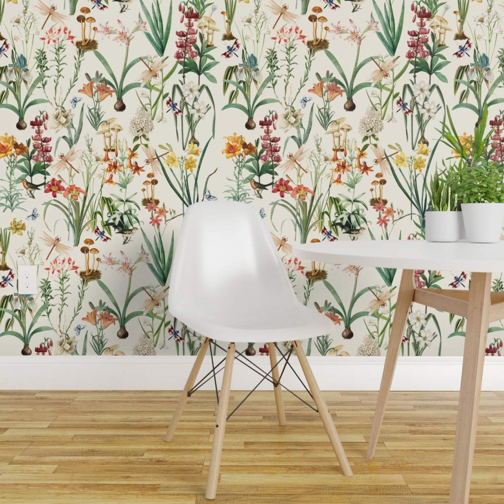 Spoonflower Peel And Stick Removable Wallpaper Dragonflies