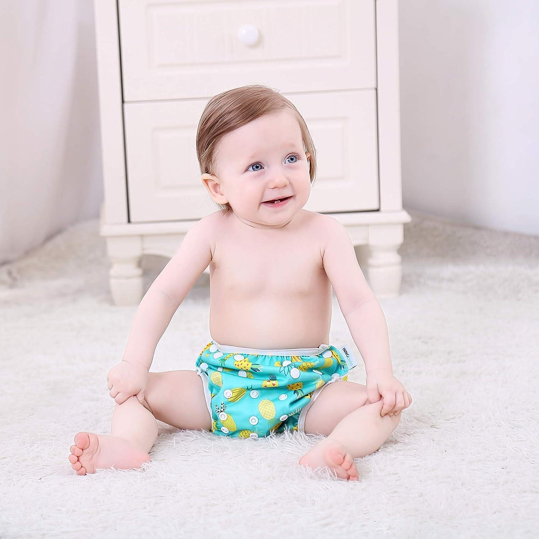 FLAMINGO InnoBeta Schwimmwindel wiederverwendbare f/ür Neugeborene 0-12 Monate baby badehose wasserdichte Size-S Einstellbare Schwimmhose Baby